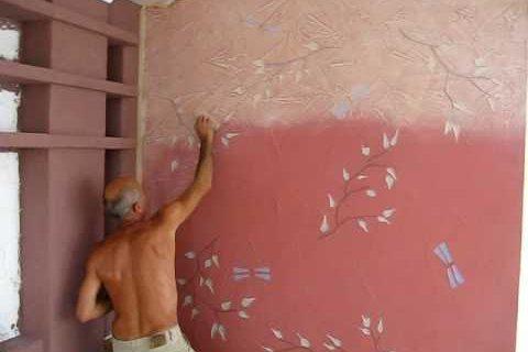 Покраска оштукатуренной поверхности