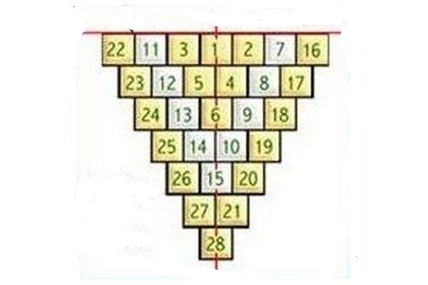 Пример разлиновки и нумерации пола под плитку