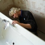Починка ванны из акрила