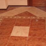 Образец укладки плитки от центра помещения