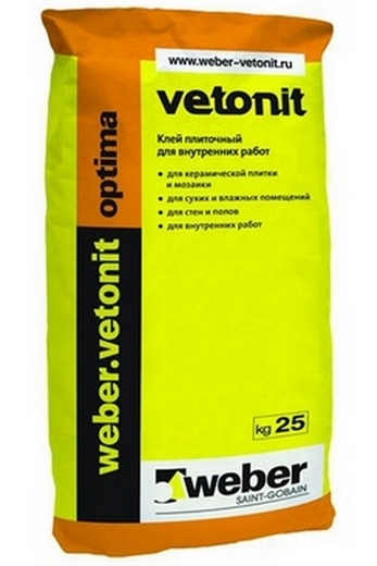 Упаковка клея Vetonit