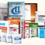 Упаковки с штукатурными смесями и растворами