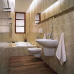 Оформление узкой ванной и туалета