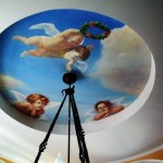 Ангелочки на натяжном потолке