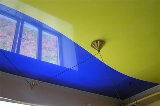 Комбинированный одноуровневый потолок