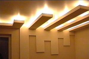 Оригинальное дизайнерское решение двухуровневого потолка