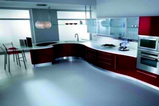 На кухне наливной пол