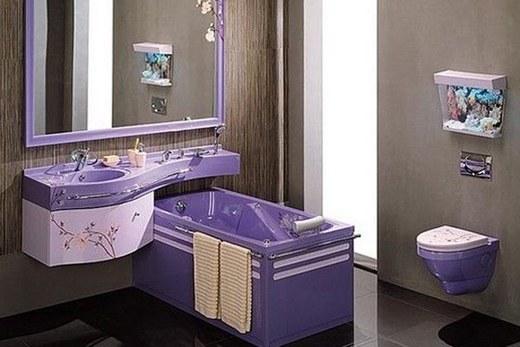 Фиолетовый санузел