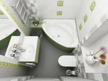 Ремонт в ванной маленького размера