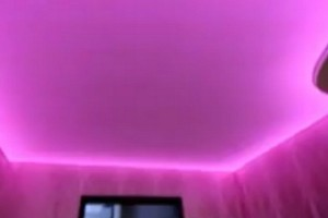 Запотолочная подсветка натяжного потолка неоновыми лампами