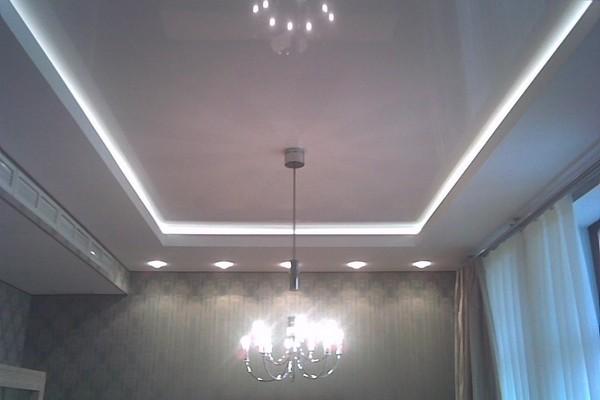 Škatla pod spuščenim stropom z luči