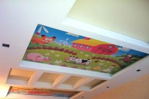 Потолок с фотопечатью «под детский рисунок»