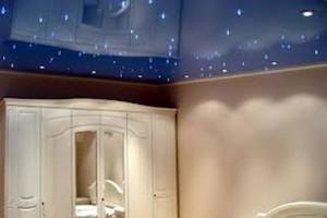 Потолок «Звёздное небо» в спальней комнате