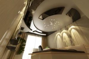 В китайском стиле оформлена спальня