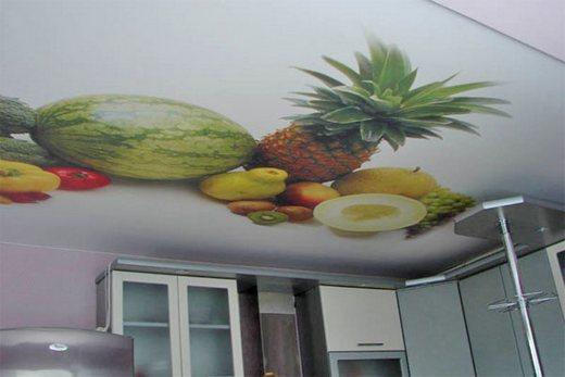 Натяжной потолок - фруктовая тематика