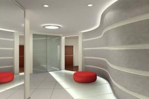 Уже иной потолок если внести чуточку объемности, чуточку криволинейности, и легкой асимметрии