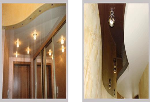 От компании «Сарос Дизайн» многоуровневые потолки