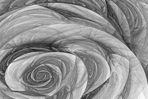 Абстрактная роза на натяжном потолке