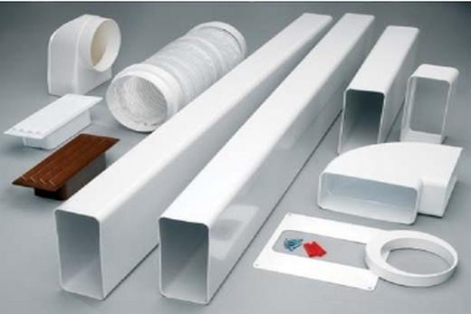 Воздуховод из пластика и комплектующие к нему