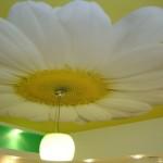 Натяжной потолок с одним большим цветком