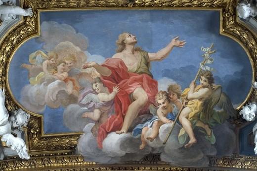 Библейский сюжет на потолке