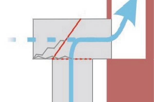 Схема работы выпускного клапана вытяжки