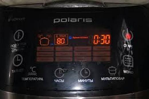 Дисплей мультиварки бренда Polaris