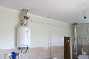 Монтаж натяжного потолка на кухне вокруг вытяжных труб
