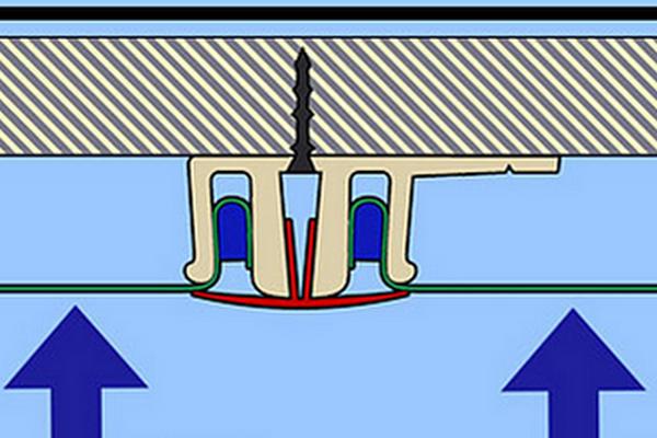 Разделительный потолочный багет