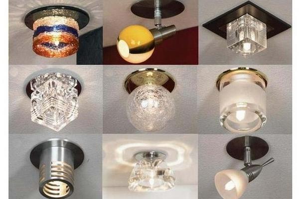 Виды припотолочных светильников
