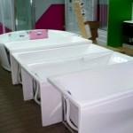 Акриловые ванны в магазине