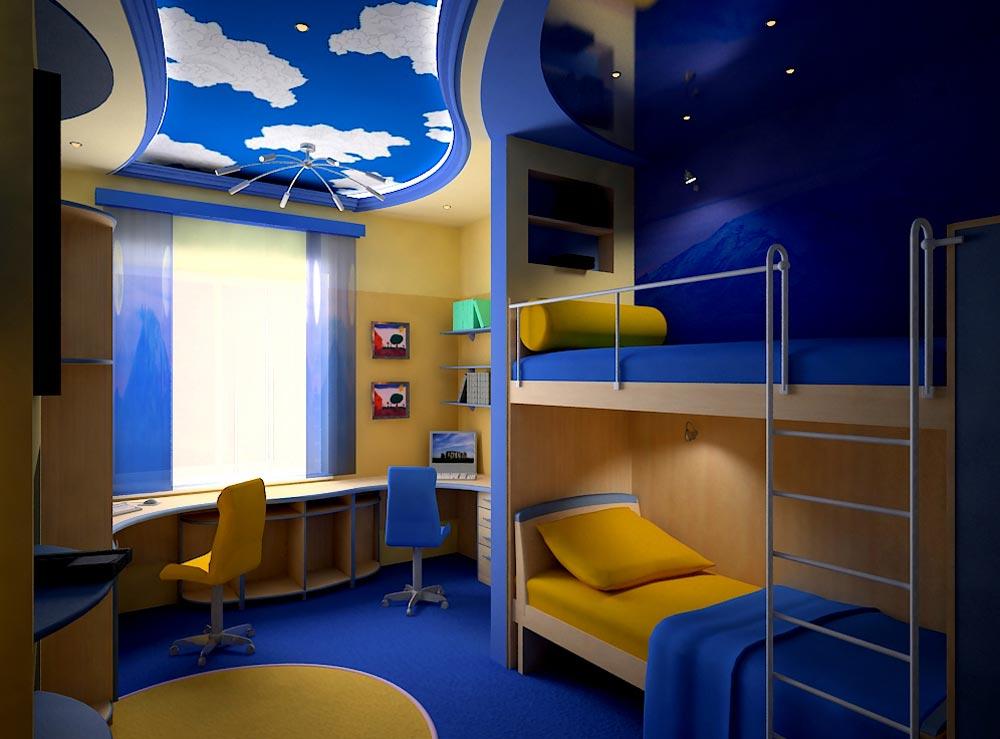 Идеи дизайна детской комнаты для двух мальчиков