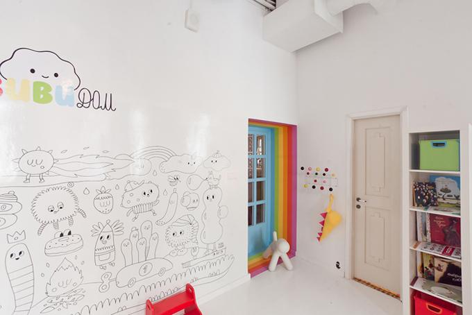 Идеи дизайна детской комнаты для мальчика со стеной для творчества