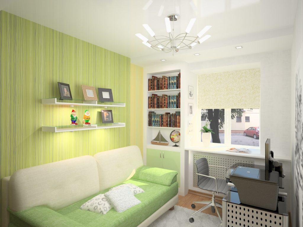 Идеи дизайна узкой детской комнаты для девочки