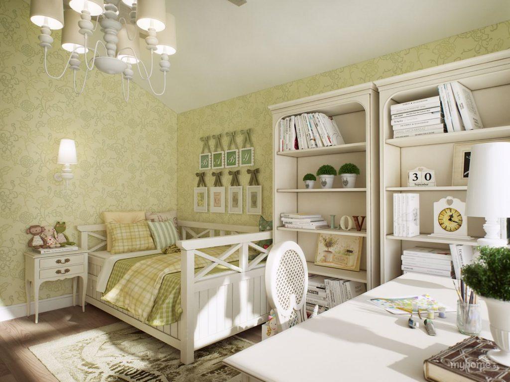 Идеи дизайна детской комнаты для девочки в классическом стиле
