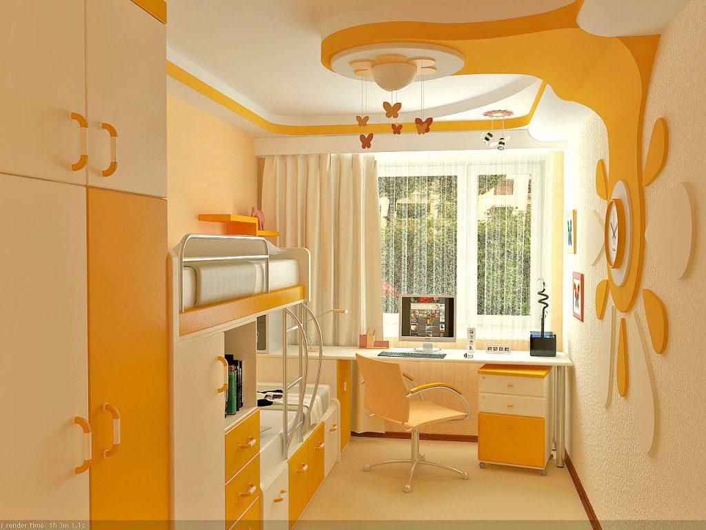 Идеи дизайна детской комнаты для девочки с двухъярусной кроватью