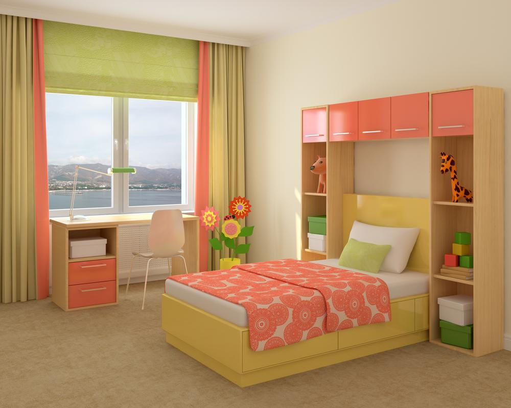Идеи дизайна детской комнаты для девочки с местом для учебы