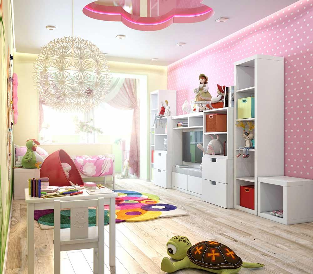 Идеи дизайна детской комнаты для девочки 6-7 лет