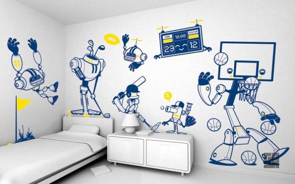 Украшаем стены в детской фантастическими фигурами