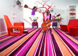 Пол в детской комнате ковролин